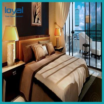 Modern Queen Size Bed Sets for Apartment / 5 Star Hotel Furniture