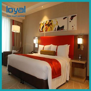 Contemporary Durable Hotel Bedroom Furniture Sets Wooden Frame Environment - Friendly