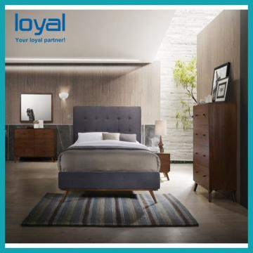Unique 3 Star Hotel Bedroom Furniture Sets Double Wooden Finish Comfortable