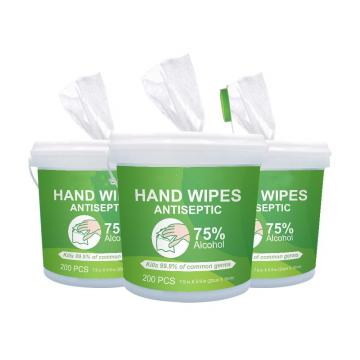 Custom Private Label Rubbing Alcohol Wipes Medical Alcohol Hand Wipes with Canister