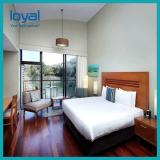 Endurable Modern Cheap Hotel Furniture With Laminate / Melamie Bed
